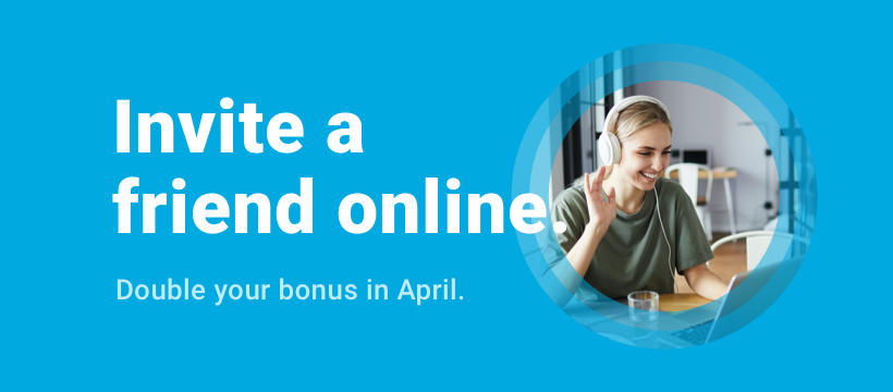 Invite a friend online, double your bonus, estateguru referral program