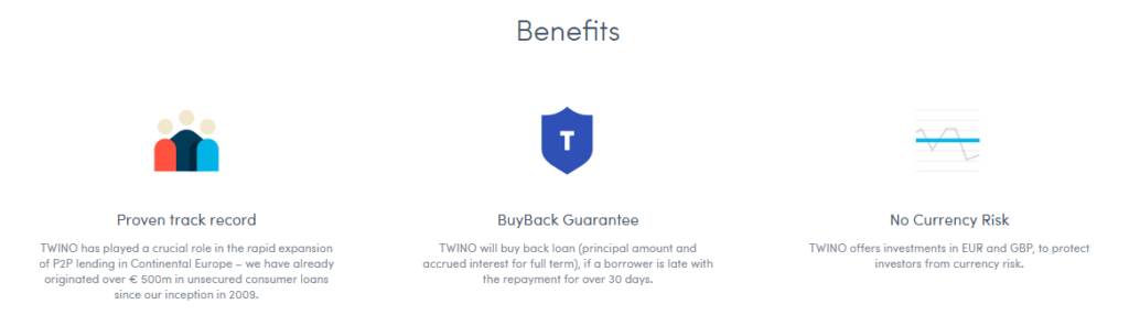 Twino.eu benefits