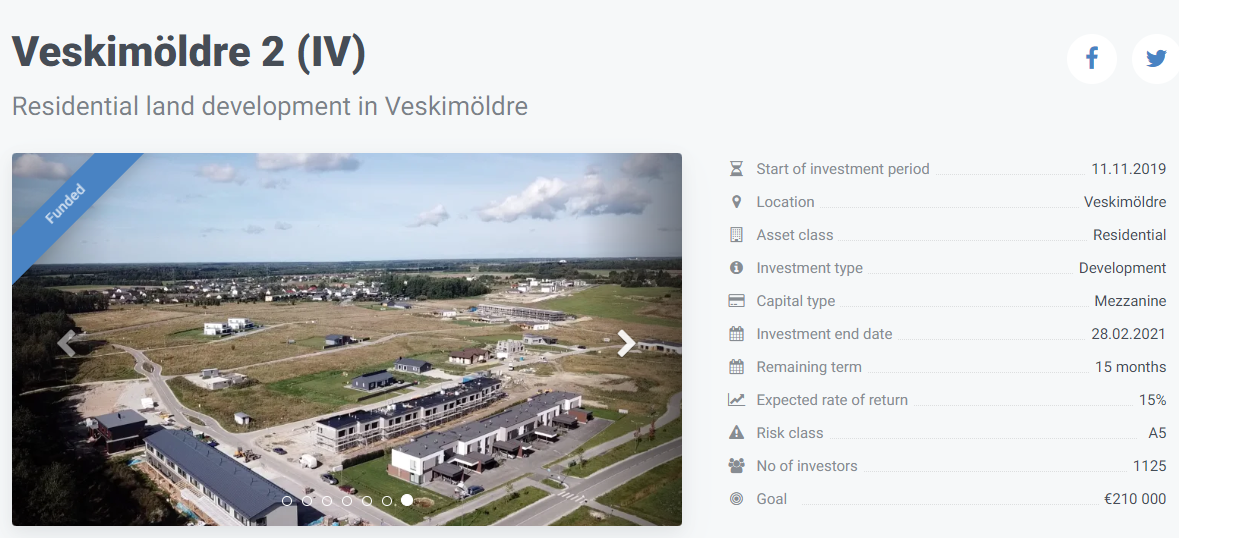 Veskimöldle project information