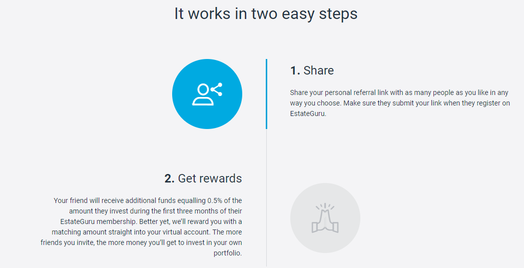 It works in two easy steps - estateguru referral program