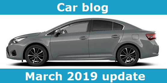 Car blog march 2019 update