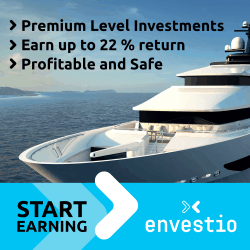 Envestio earn up to 22% return
