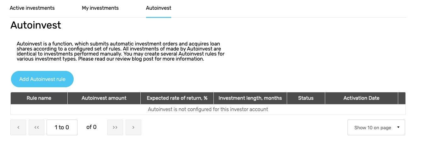 Envestio autoinvest