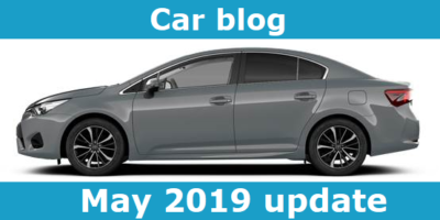 car blog, may 2019 update