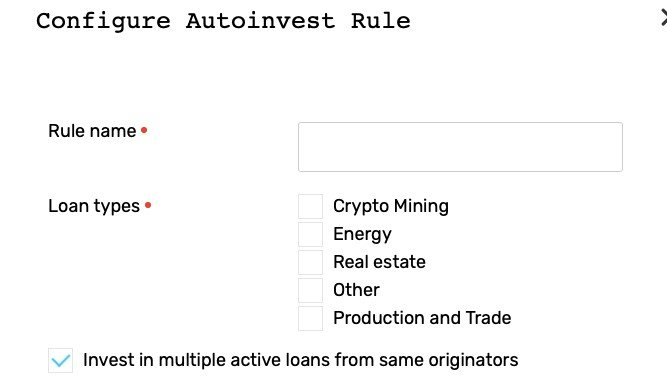 configure autoinvest rule