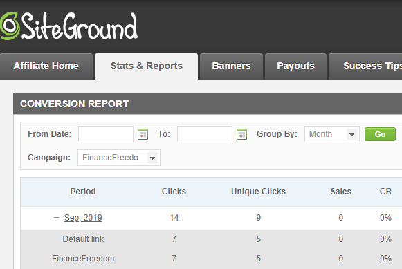siteground side hustle project, september 2019 income report