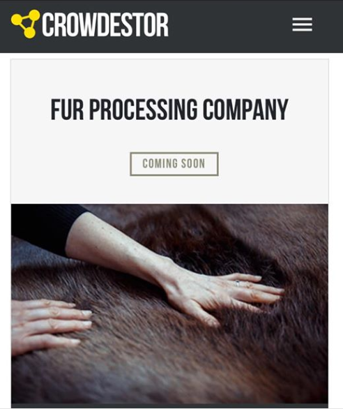 crowdestor fur processing company project