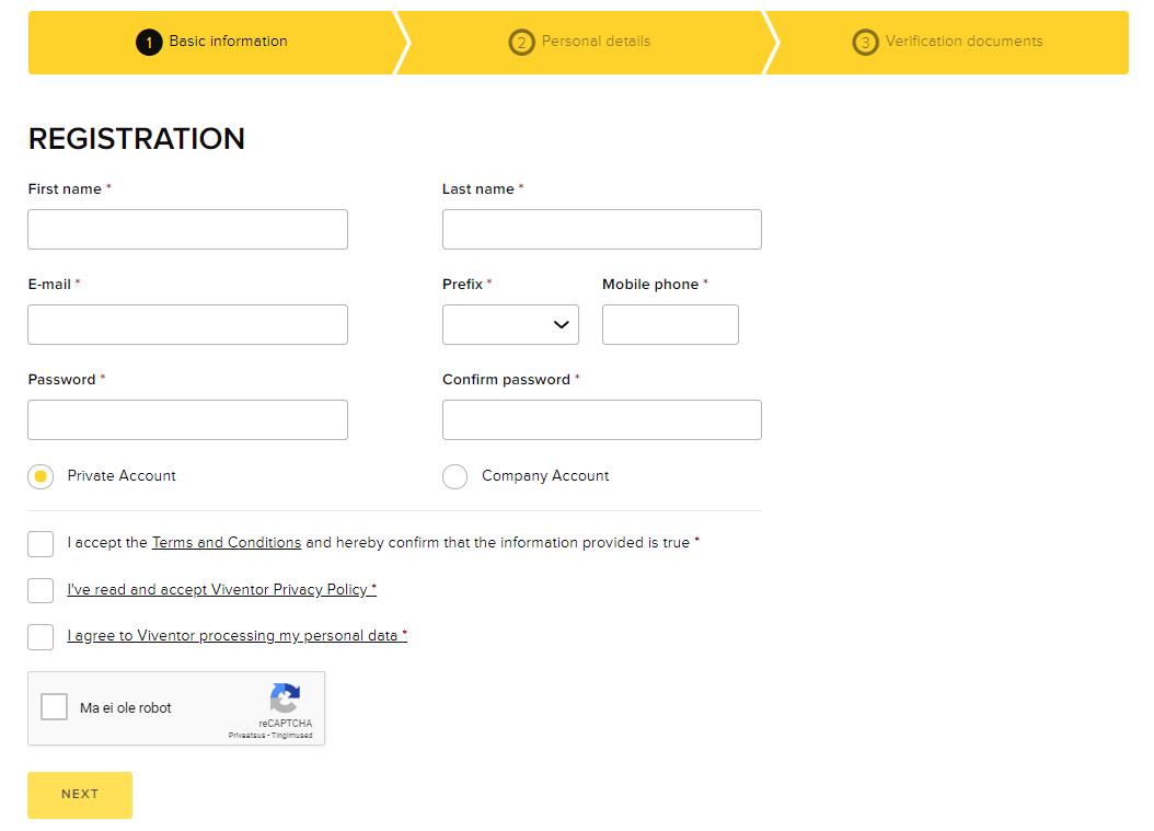 Viventor registration is easy