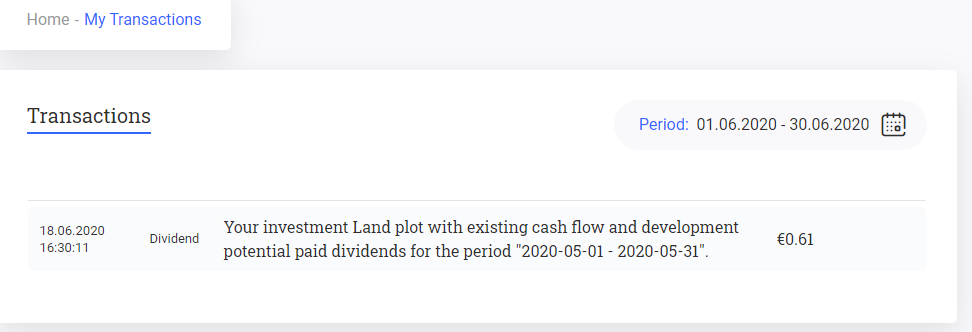 Reinvest24 interest income in june 2020