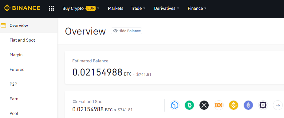 Binance.com cryptocurrency portfolio update december 2020